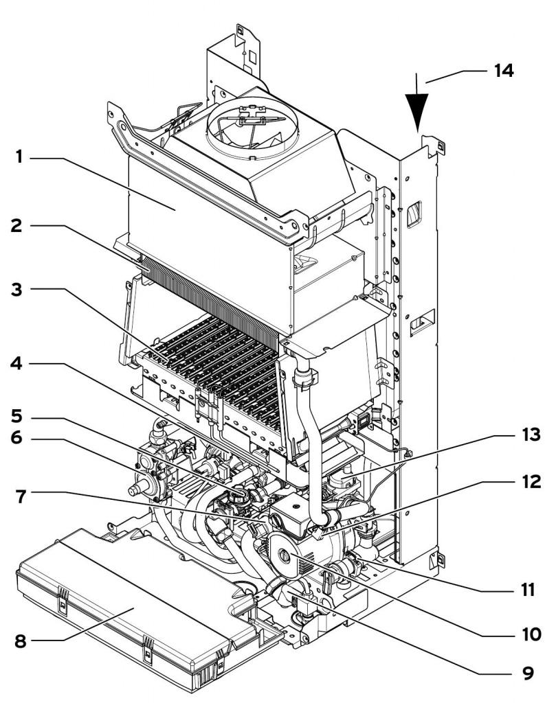 Теплообменник vuw 240/2-3 запчасти теплообменник для газовой колонки heizen